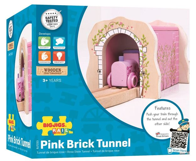 Picture of Bigjigs Rail - Pink Brick Tunnel