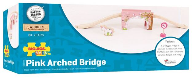 Picture of Bigjigs Rail - Pink Arched Bridge