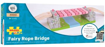 Picture of Bigjigs Rail - Pink Rope Bridge