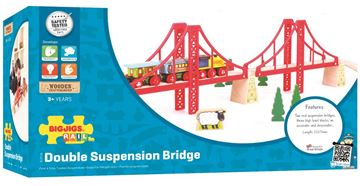 Picture of Bigjigs Rail - Double Suspension Bridge