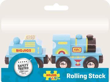 Picture of Bigjigs Rail - Blue ABC Engine