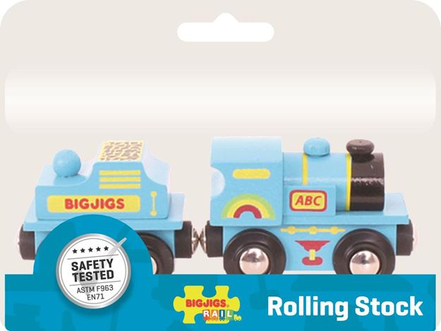 Picture of Bigjigs Rail - Blue ABC Engine