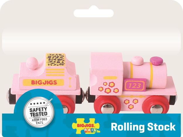 Picture of Bigjigs Rail - Pink 123 Engine