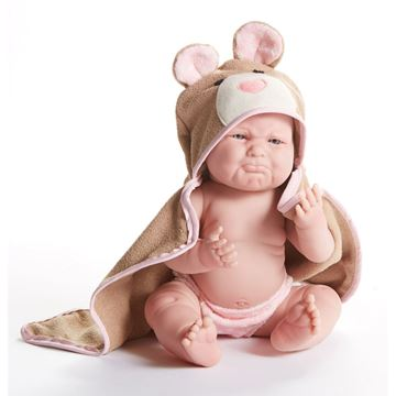 Picture of Dolls - Pouty Teddy Bear Baby Girl (43cm)