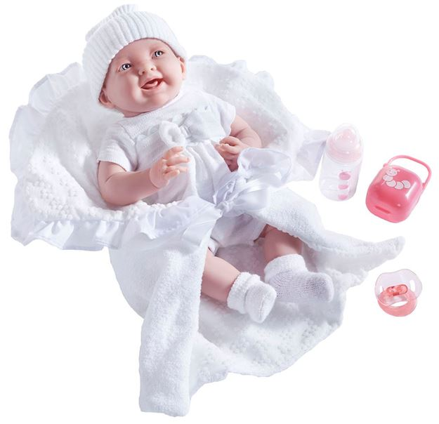 Picture of Dolls - Soft Body In White Bunting (39cm)