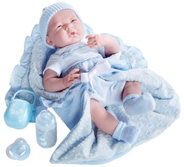 Picture of Dolls - Soft Body In Blue Bunting (39cm)