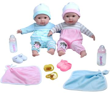 Picture of Dolls - Double Soft Body Boy & Girl Gift Set (38cm)