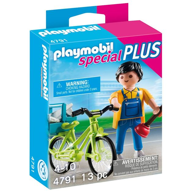 Picture of Playmobil - Handyman With Bike