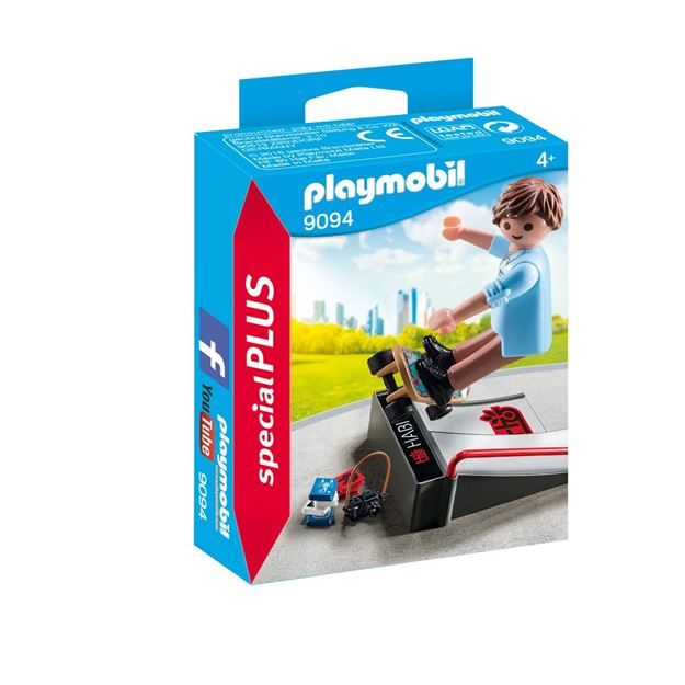 Picture of Playmobil - Skateboarder With Ramp