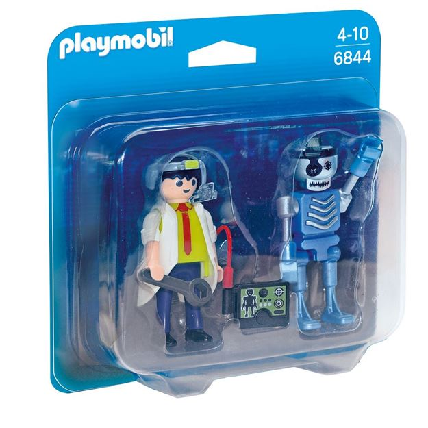 Picture of Playmobil - Scientist With Robot Duo