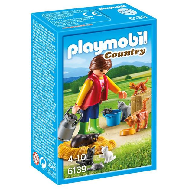 Picture of Playmobil - Woman With Cat Family