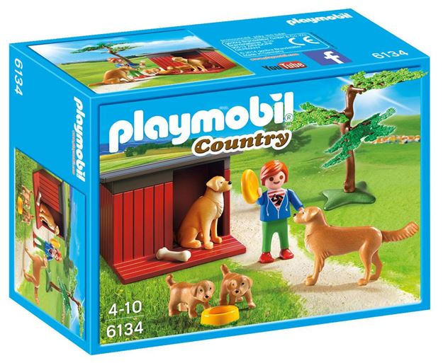 Picture of Playmobil - Golden Retrievers With Toy