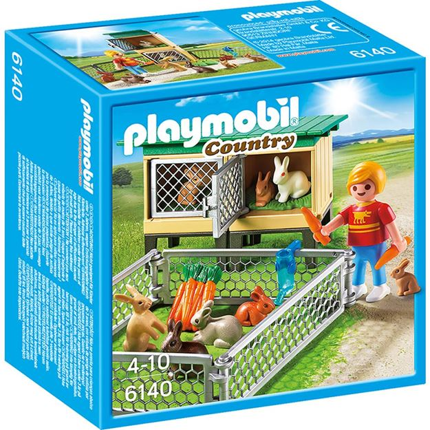 Picture of Playmobil - Rabbit Pen With Hutch
