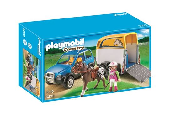 Picture of Playmobil - SUV With Horse Trailer