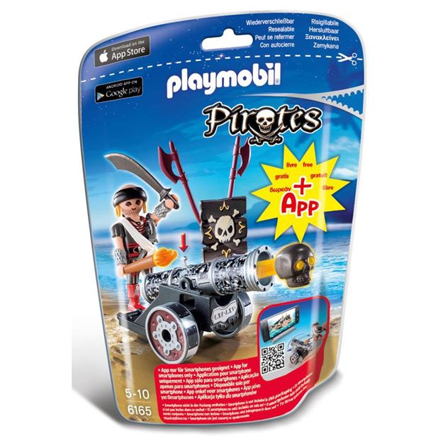 Picture of Playmobil - Black Cannon With Raider