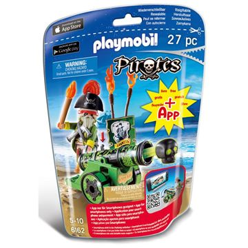 Picture of Playmobil - Green Cannon With Pirate Captain