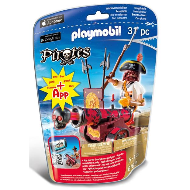 Picture of Playmobil - Red Cannon With Buccaneer