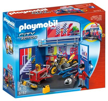 Picture of Playmobil - My Secret Motorcycle Workshop Play Box