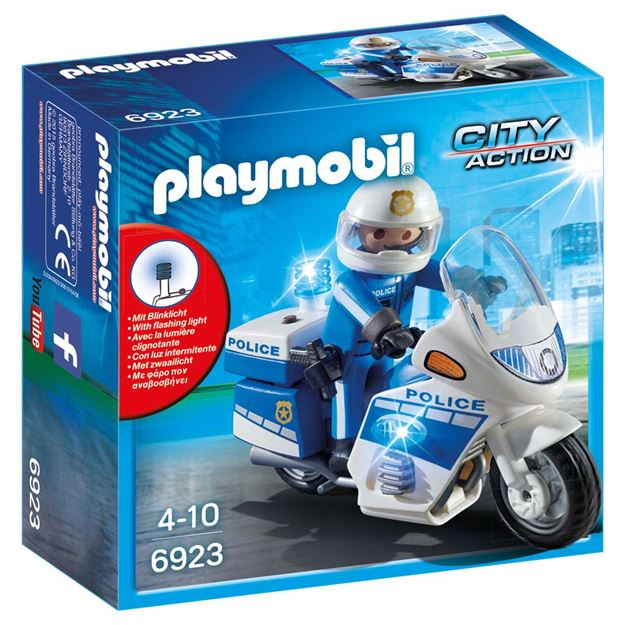 Picture of Playmobil - Police Bike With LED Light