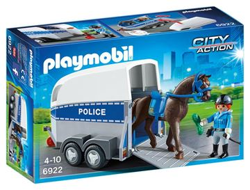 Picture of Playmobil - Police With Horse & Trailer