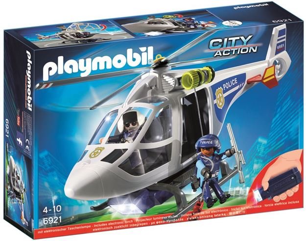 Picture of Playmobil - Police Helicopter With LED Searchlight