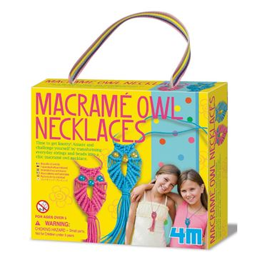 Picture of 4M Craft - Macrame Owl Necklaces