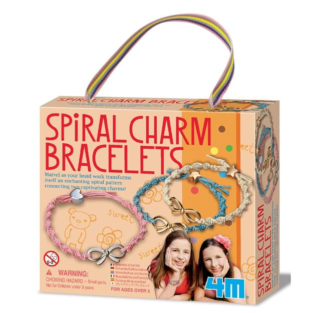 Picture of 4M Craft - Spiral Charm Bracelets