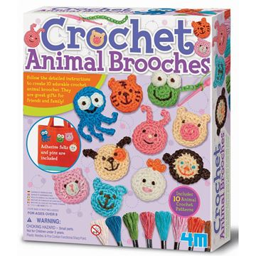 Picture of 4M Craft - Crochet Animal Brooches