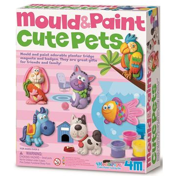 Picture of 4M Craft - Mould & Paint Cute Pets