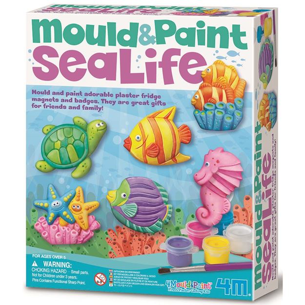 Picture of 4M Craft - Mould & Paint Sea Life