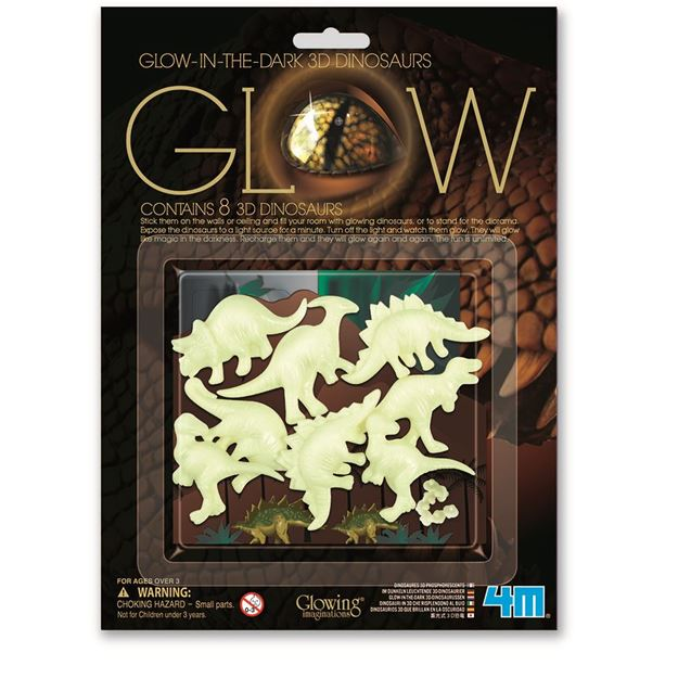 Picture of 4M Science - Glow 8 3D Dinosaurs