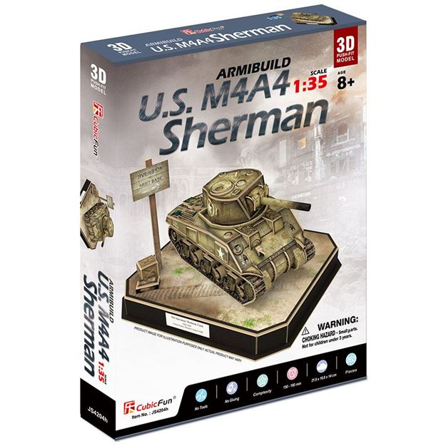 Picture of 3D Puzzle - US M4A4 Sherman