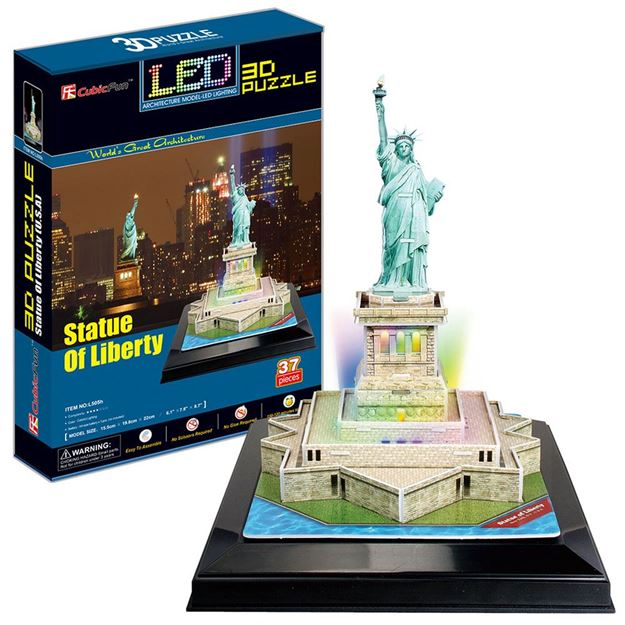 Picture of 3D Puzzle - Statue Of Liberty LED
