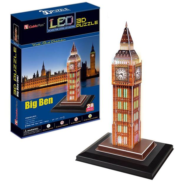 Picture of 3D Puzzle - Big Ben LED