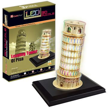 Picture of 3D Puzzle - Pisa Tower LED