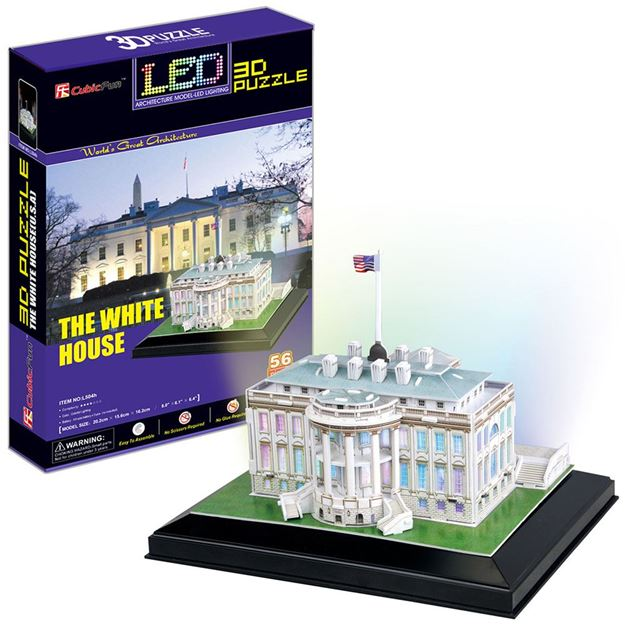 Picture of 3D Puzzle - White House LED