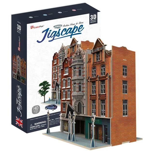 Picture of 3D Puzzle - Auction House and Stores Jigscape