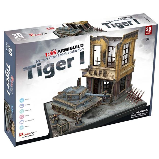 Picture of 3D Puzzle - German Tiger 1 Armibuild Military
