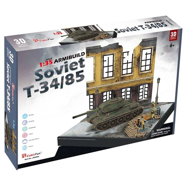 Picture of 3D Puzzle - Soviet T34/85 Armibuild Military