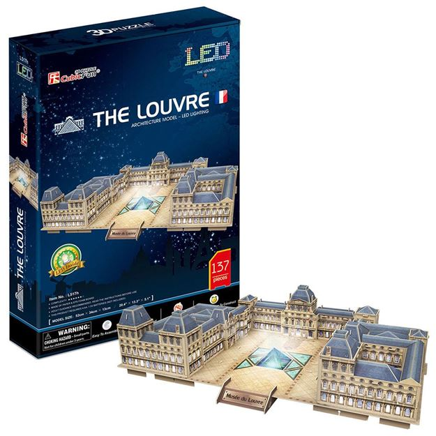 Picture of 3D Puzzle - The Louvre XL Series