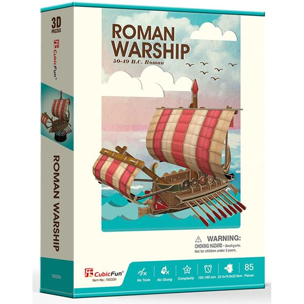 Picture of 3D Puzzle - Roman Warship Ship Series Sml