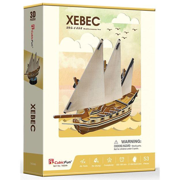 Picture of 3D Puzzle - Xebec Ship Series Sml
