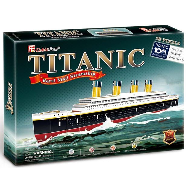 Picture of 3D Puzzle - Titanic Ship Series Sml