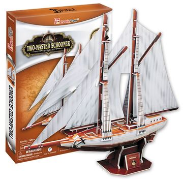 Picture of 3D Puzzle - Two Mastered Schooner