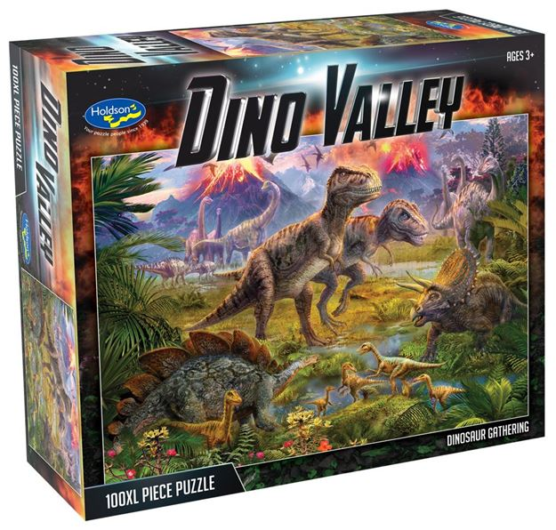 Picture of Holdson Puzzle - Dino Valley 100pc XL (Dinosaur Gathering)