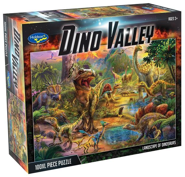 Picture of Holdson Puzzle - Dino Valley 100pc XL (Landscape of Dinosaurs)