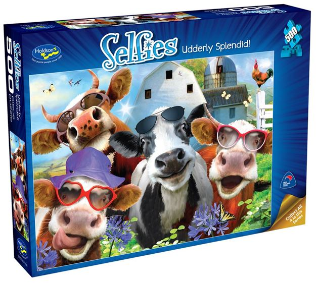 Picture of Holdson Puzzle - Selfies S2 500pc (Udderly Splendid!)