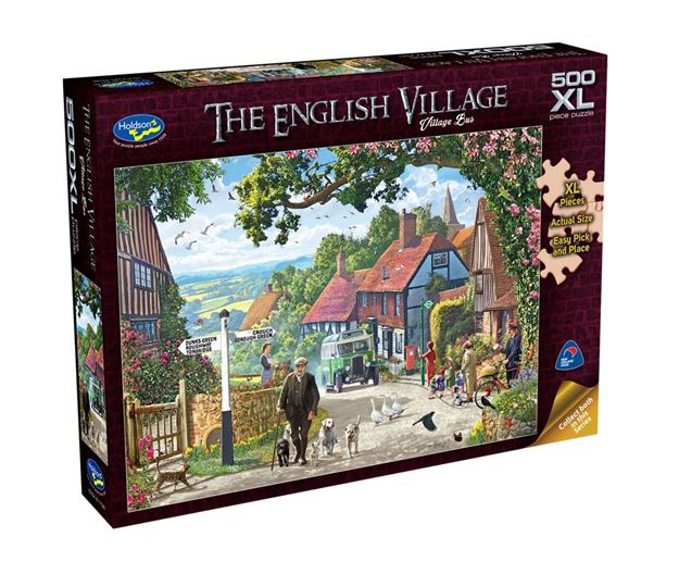 Picture of Holdson Puzzle - The English Village 500pc XL (Village Bus)