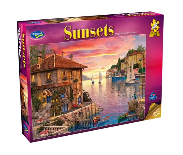 Picture of Holdson Puzzle - Sunsets S2 1000pc (Mediterranean Harbour)