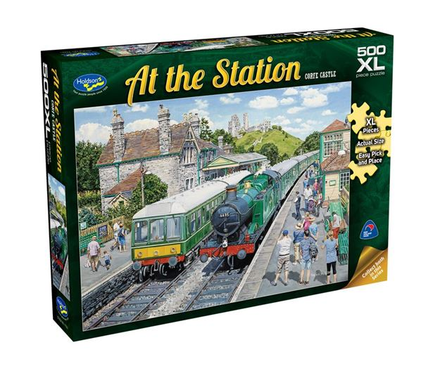 Picture of Holdson Puzzle - At The Station 500pc XL (Corfe Castle)